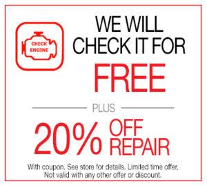Free  Diagnostic Repair + 20% Off Repair